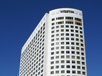 Westin Hotel and parking structure in Jersey City, NJ