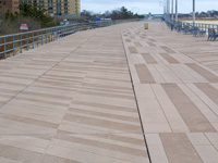 Coney Island Boardwalk reconstruction, precast planks on existing wood substructure, Brooklyn, NY