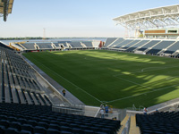 PPL Park construction of stadium components including walls and risers, Philadelphia, PA